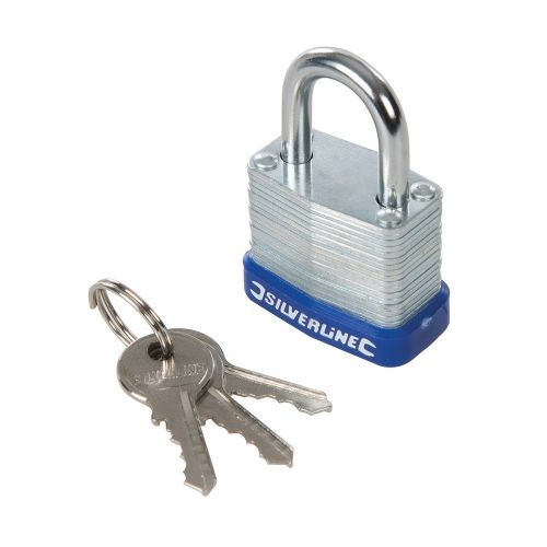 Silverline 588272 Laminated Padlock 30mm